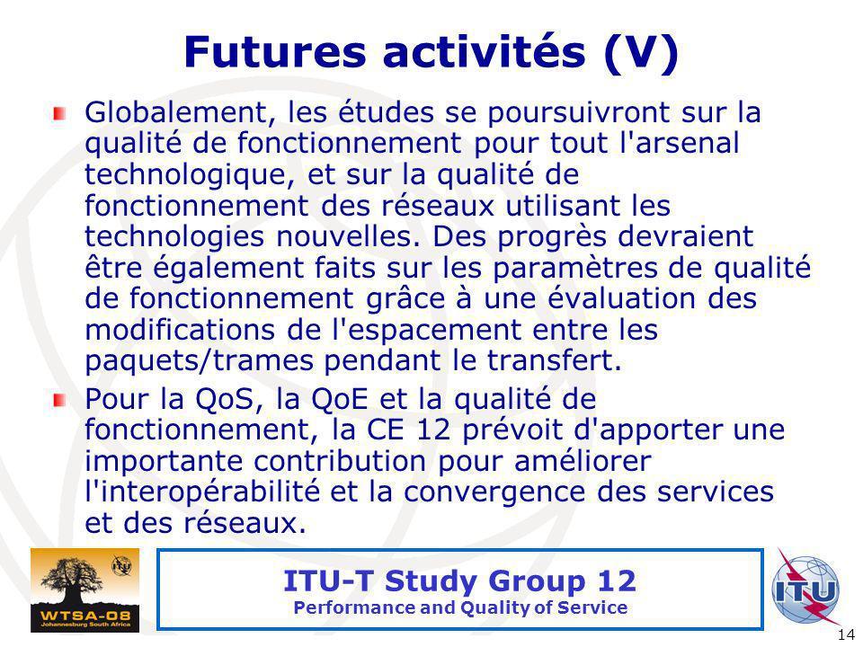 Futures activités (V)