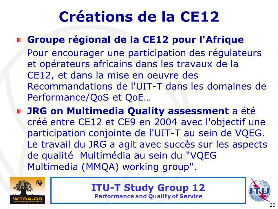 Créations de la CE12 Groupe régional de la CE12 pour l Afrique