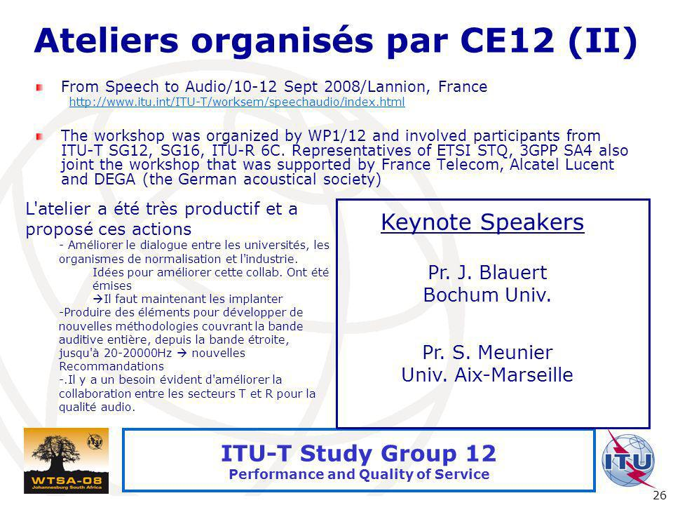 Ateliers organisés par CE12 (II)