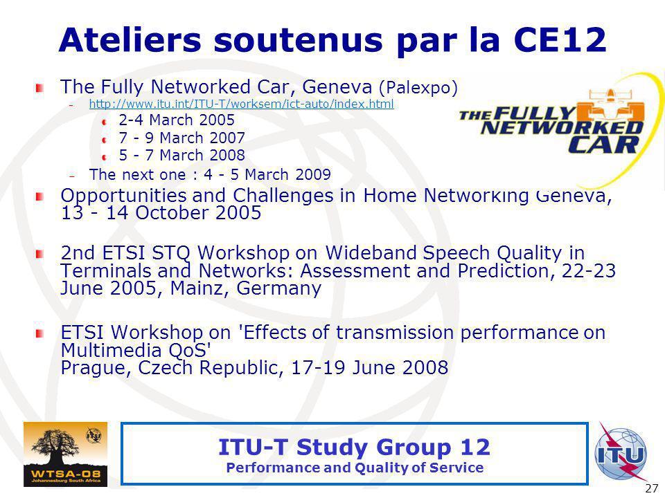 Ateliers soutenus par la CE12