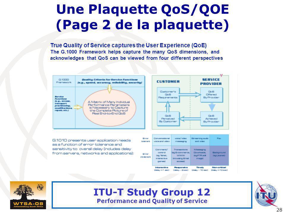 Une Plaquette QoS/QOE (Page 2 de la plaquette)