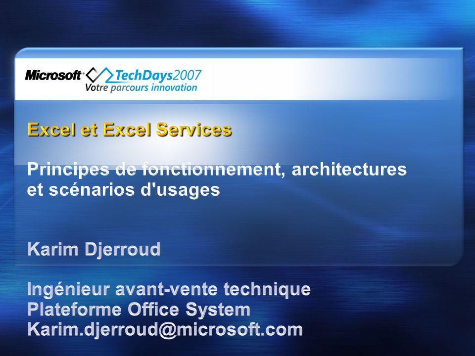 Excel et Excel Services
