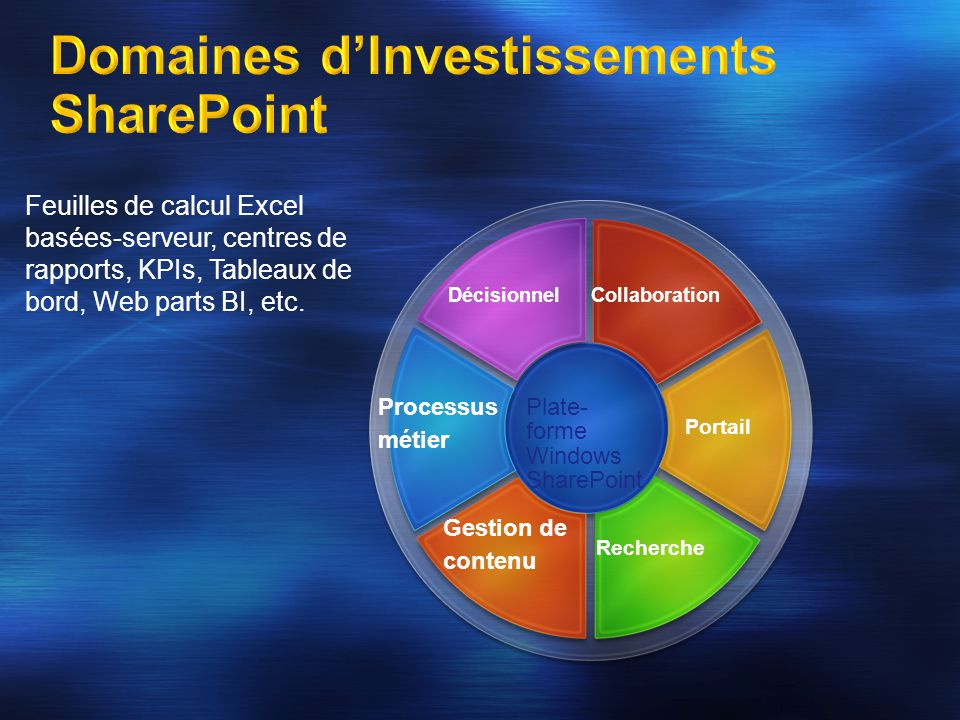 Domaines d'Investissements SharePoint
