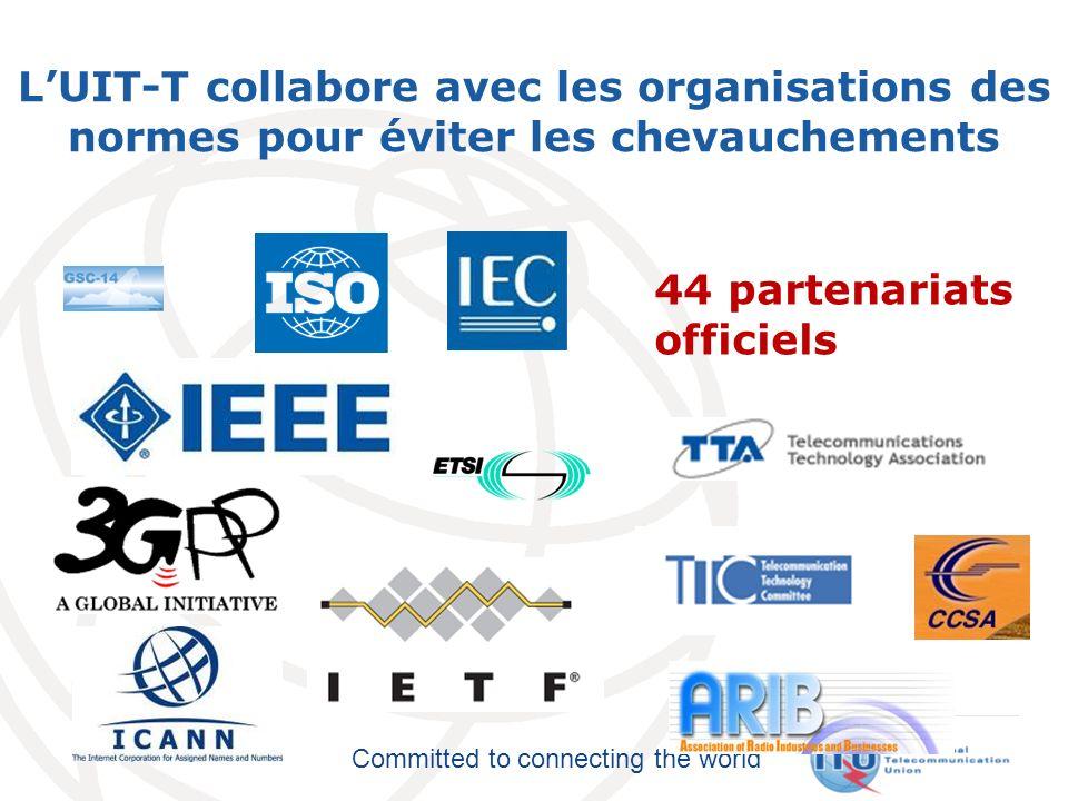 L'UIT-T collabore avec les organisations des normes pour éviter les chevauchements