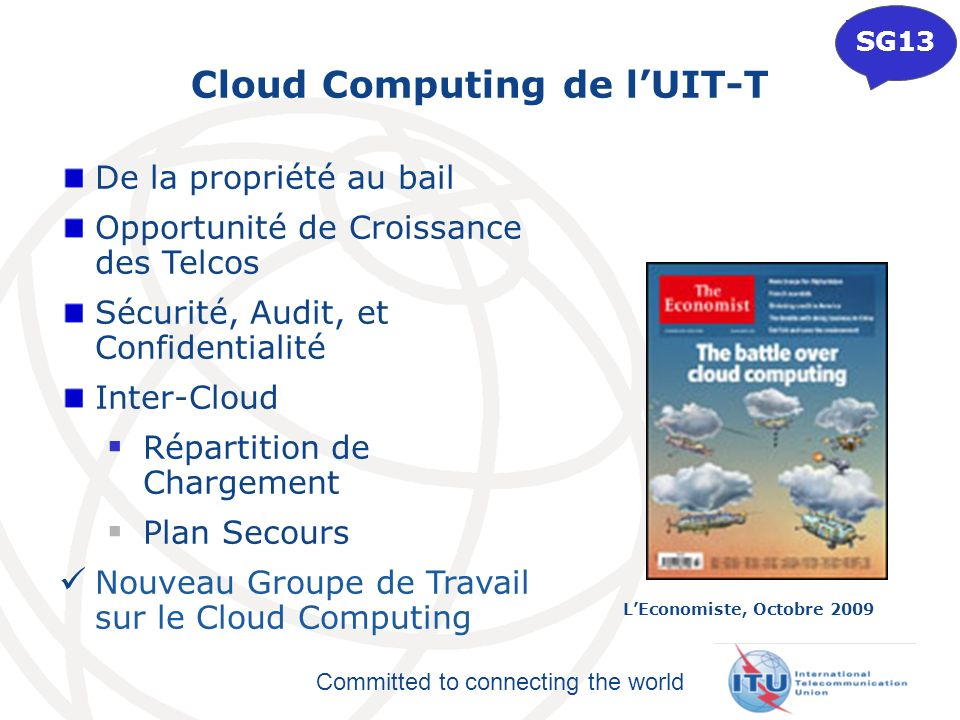 Cloud Computing de l'UIT-T