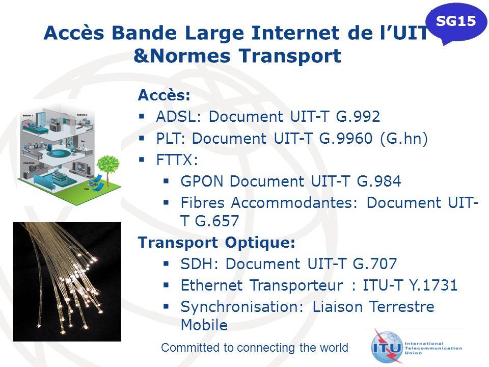 Accès Bande Large Internet de l'UIT &Normes Transport