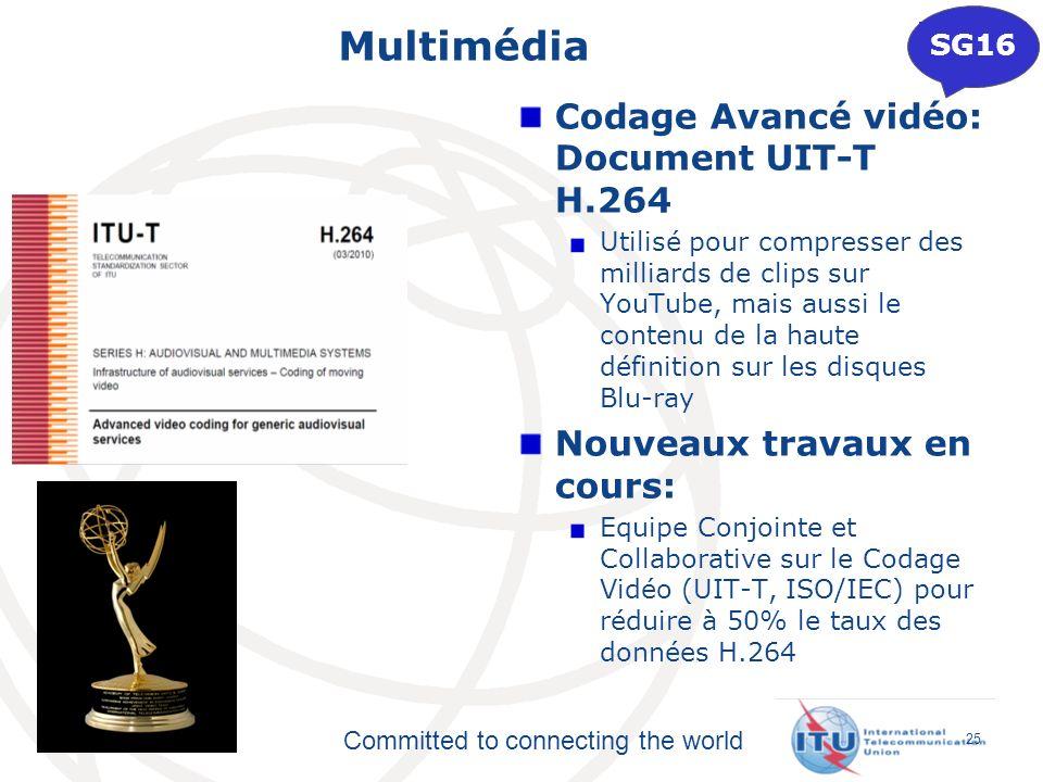 Multimédia Codage Avancé vidéo: Document UIT-T H.264