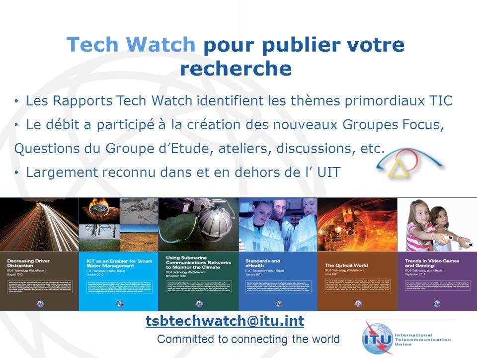 Tech Watch pour publier votre recherche