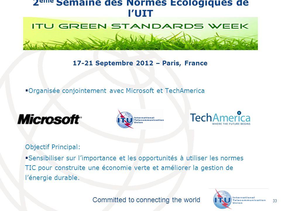 2ème Semaine des Normes Ecologiques de l'UIT