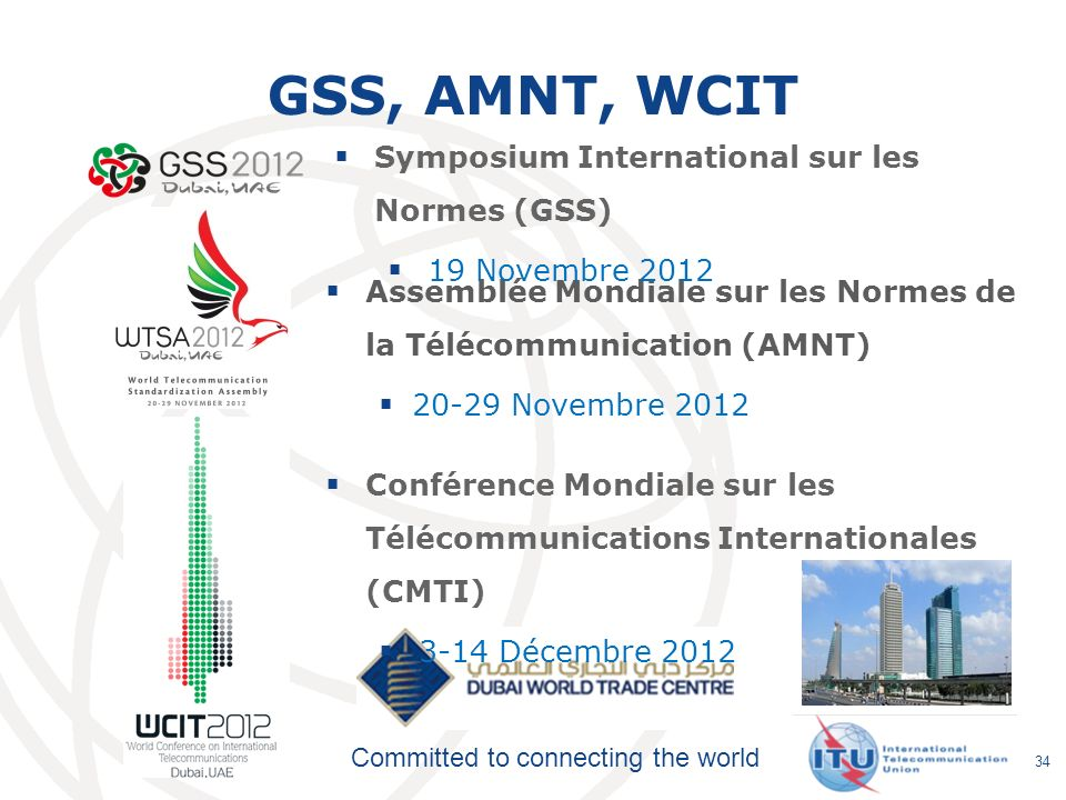 GSS, AMNT, WCIT Symposium International sur les Normes (GSS)