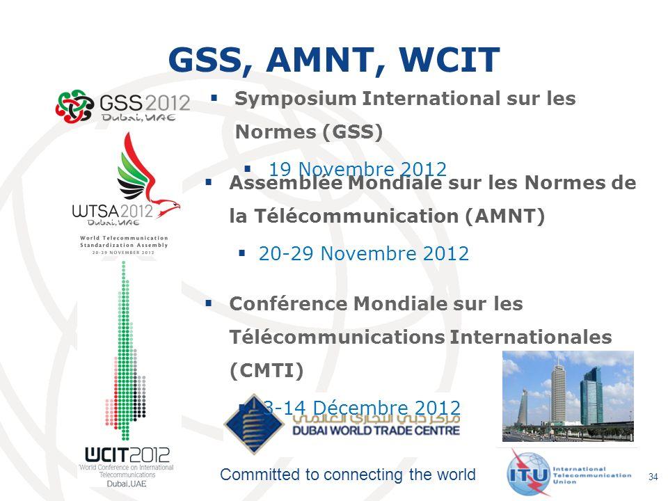 GSS, AMNT, WCIT Symposium International sur les Normes (GSS)