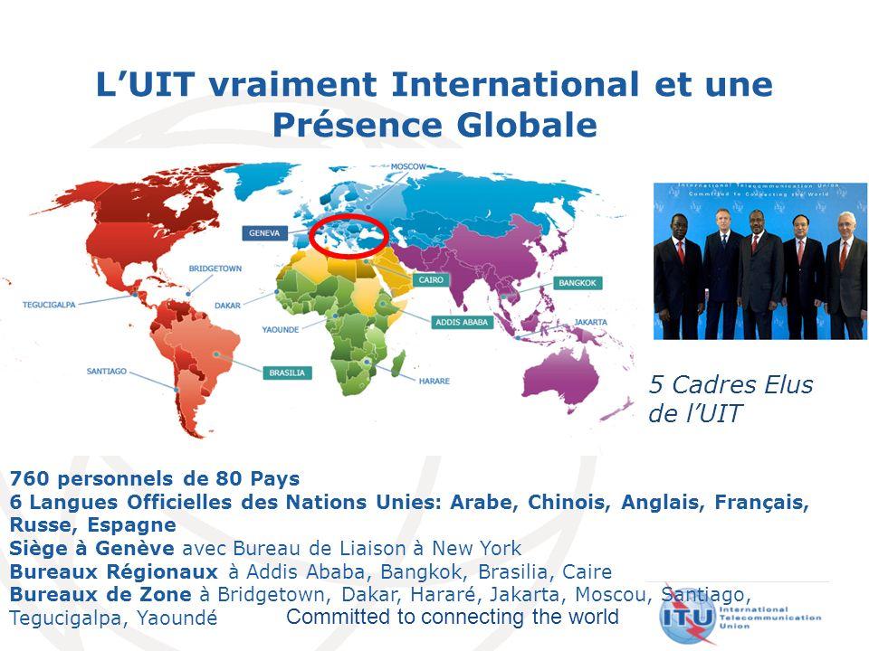 L'UIT vraiment International et une Présence Globale