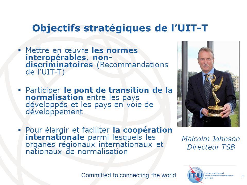 Objectifs stratégiques de l'UIT-T