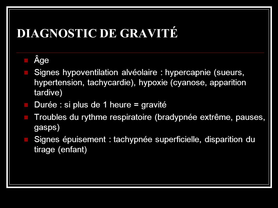 DIAGNOSTIC DE GRAVITÉ Âge
