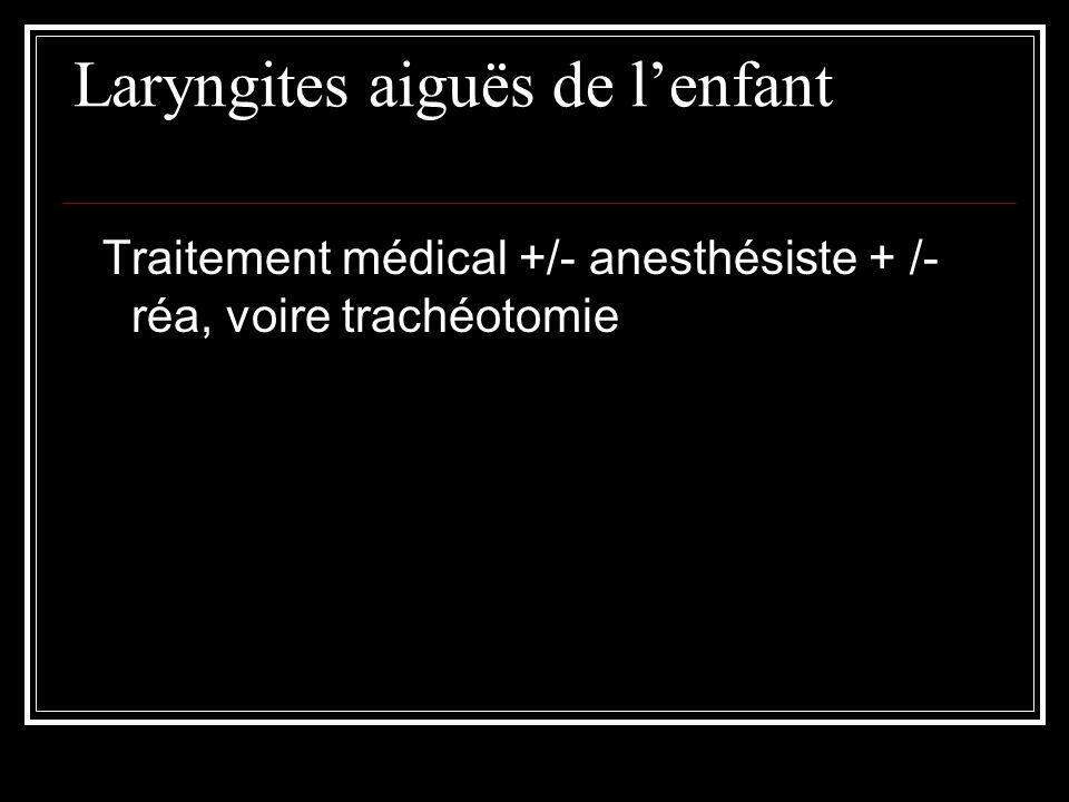 Laryngites aiguës de l'enfant