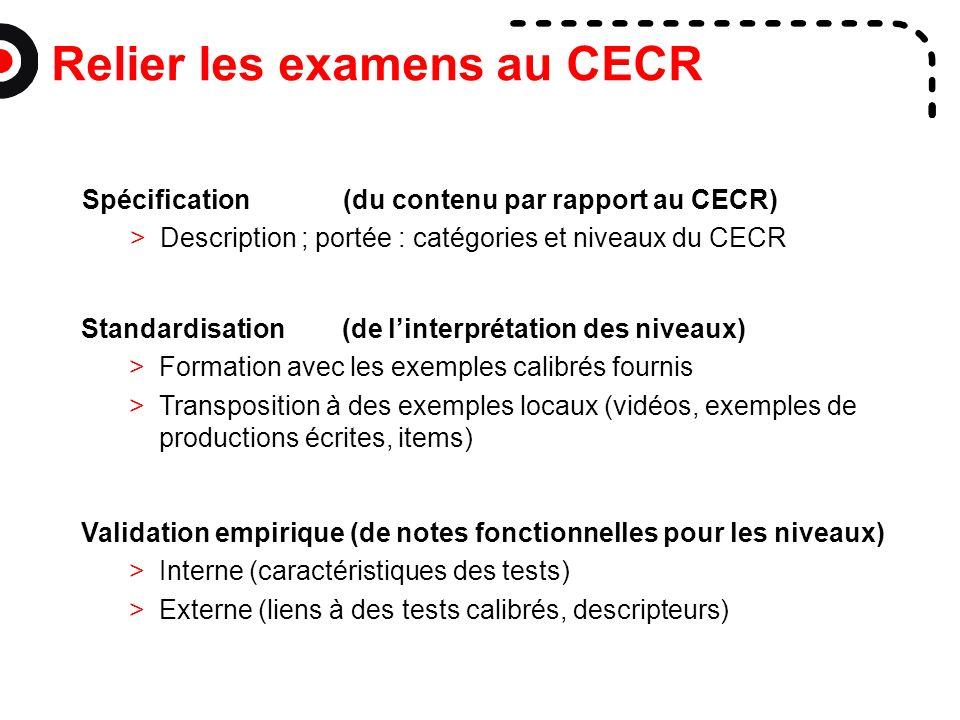 Relier les examens au CECR