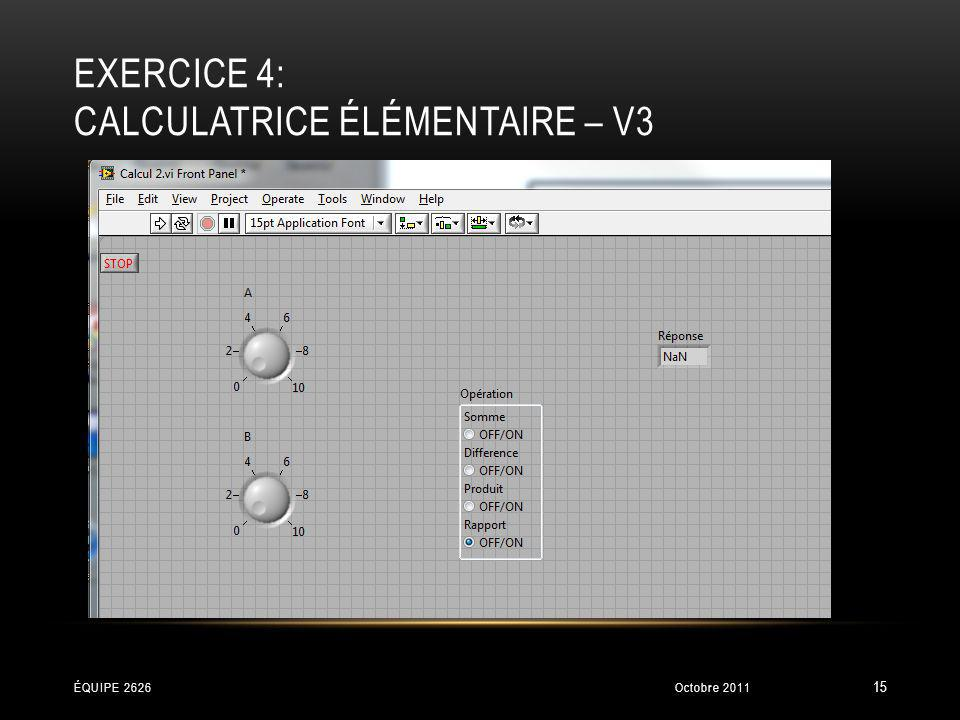 exercice 4: Calculatrice élémentaire – V3