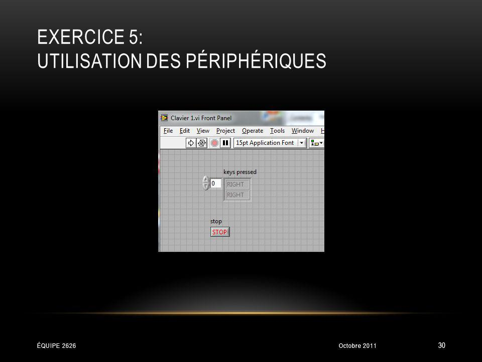 Exercice 5: Utilisation des périphériques