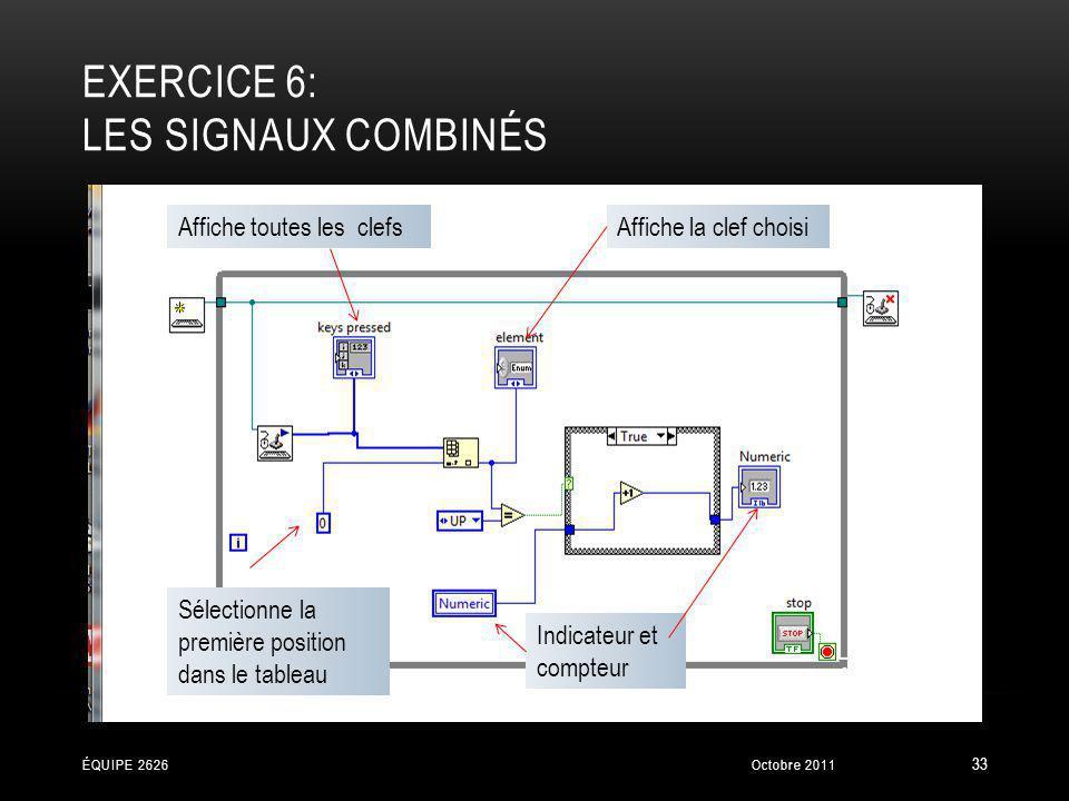 Exercice 6: Les signaux combinés