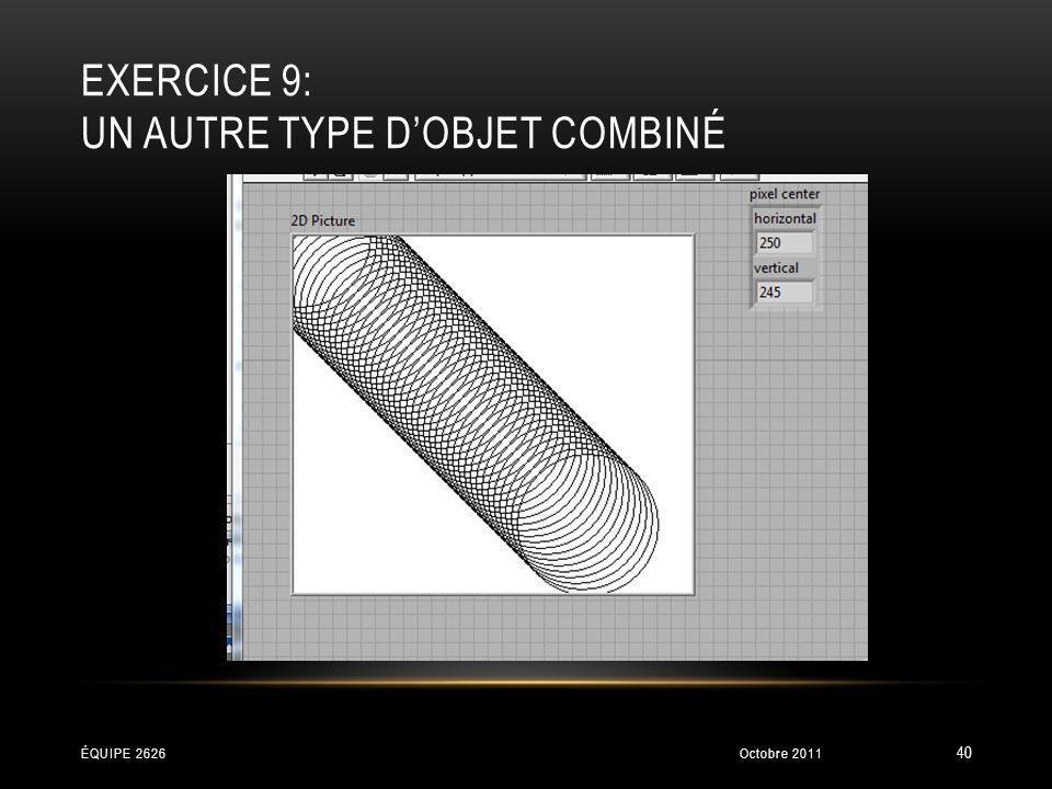 Exercice 9: Un autre type d'objet combiné