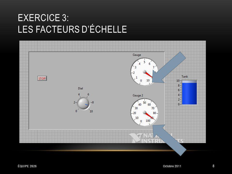 Exercice 3: Les facteurs d'échelle