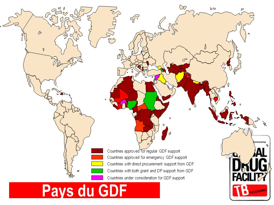 Pays du GDF Countries approved for regular GDF support