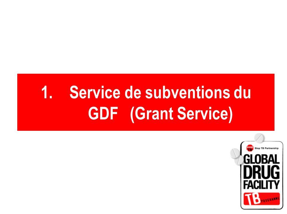 Service de subventions du GDF (Grant Service)