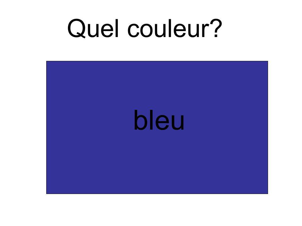 Quel couleur bleu