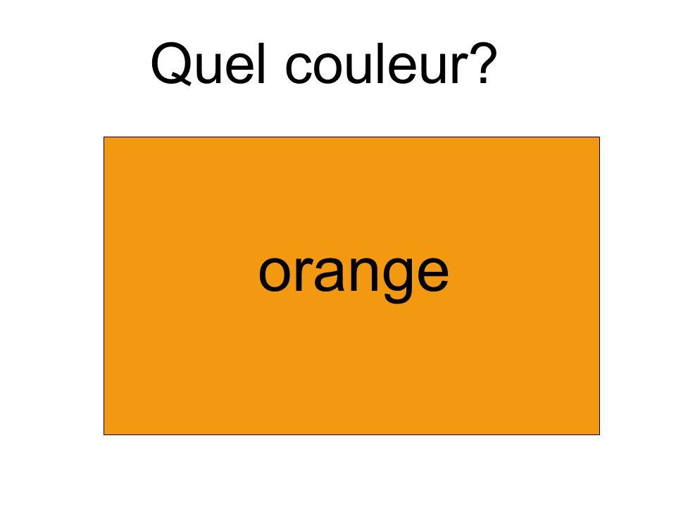 Quel couleur orange