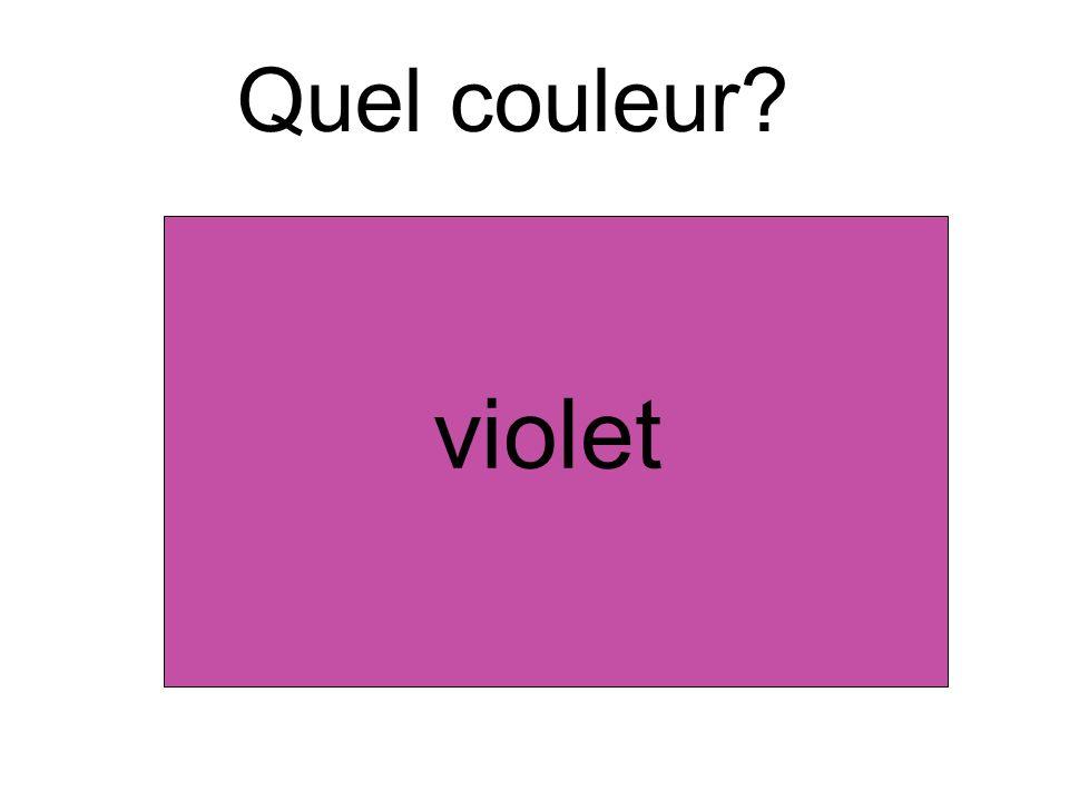 Quel couleur violet