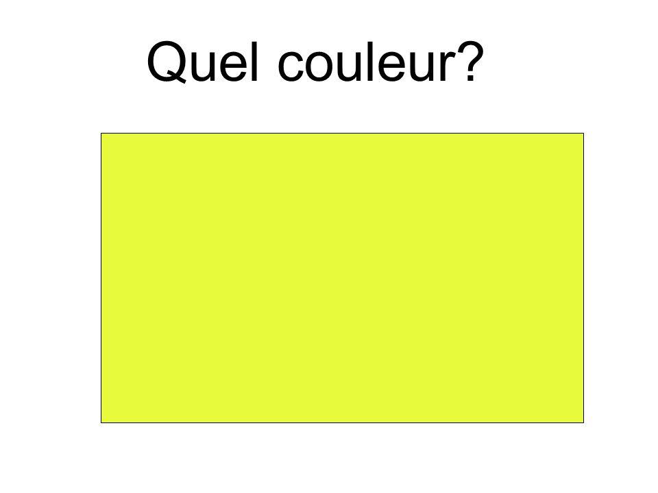 Quel couleur