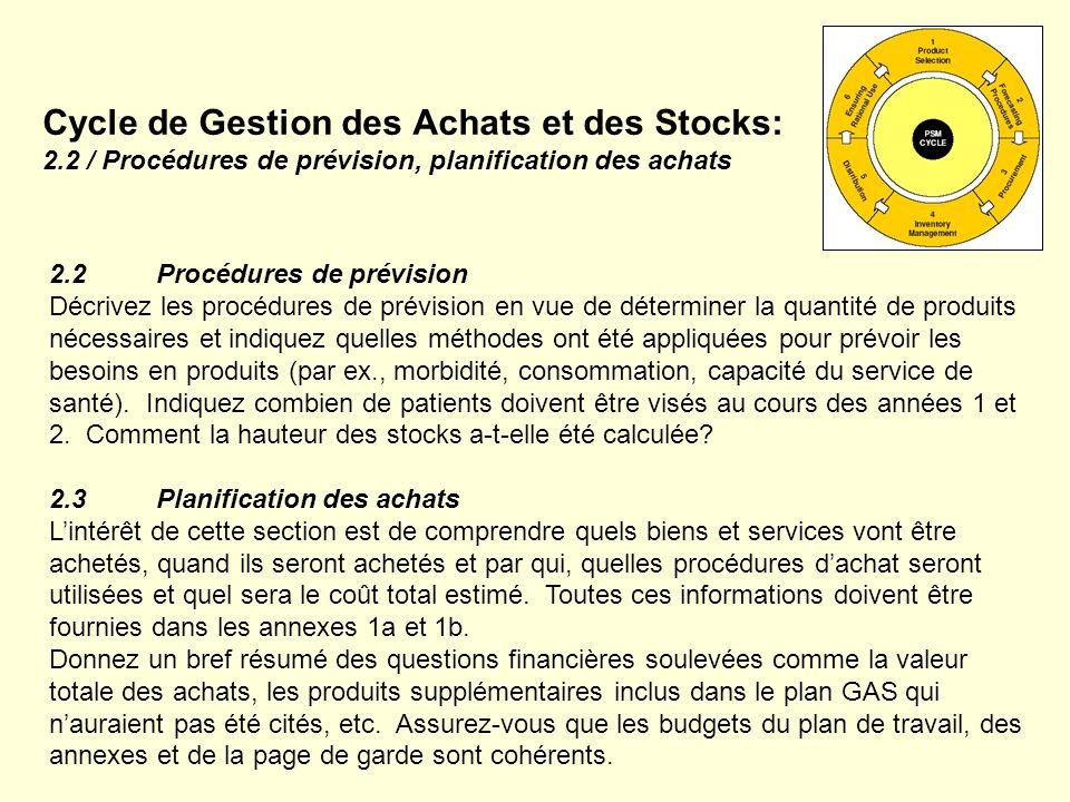 Cycle de Gestion des Achats et des Stocks: 2