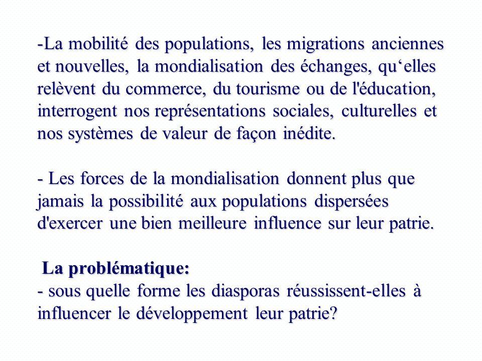 La mobilité des populations, les migrations anciennes et nouvelles, la mondialisation des échanges, qu'elles relèvent du commerce, du tourisme ou de l éducation, interrogent nos représentations sociales, culturelles et nos systèmes de valeur de façon inédite.