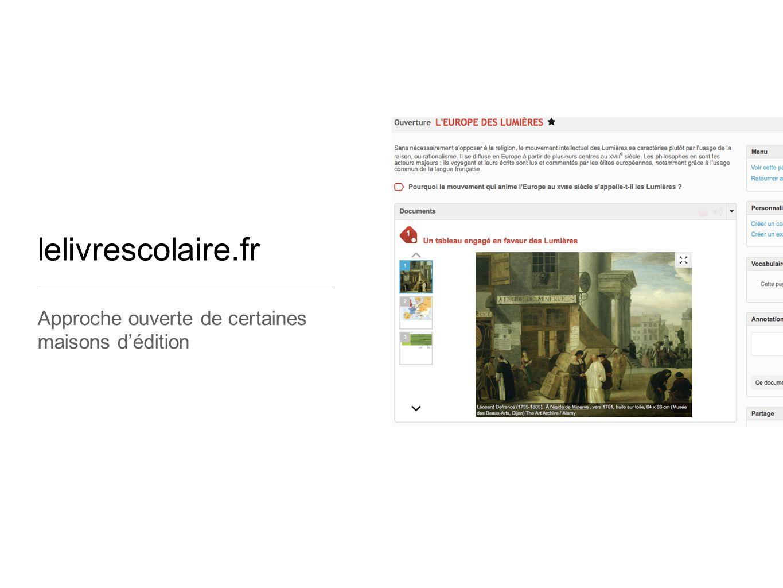 lelivrescolaire.fr Approche ouverte de certaines maisons d'édition