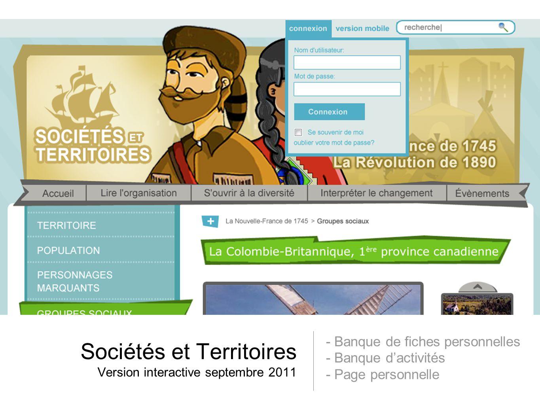 Sociétés et Territoires Version interactive septembre 2011