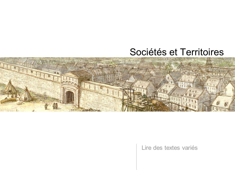 Sociétés et Territoires