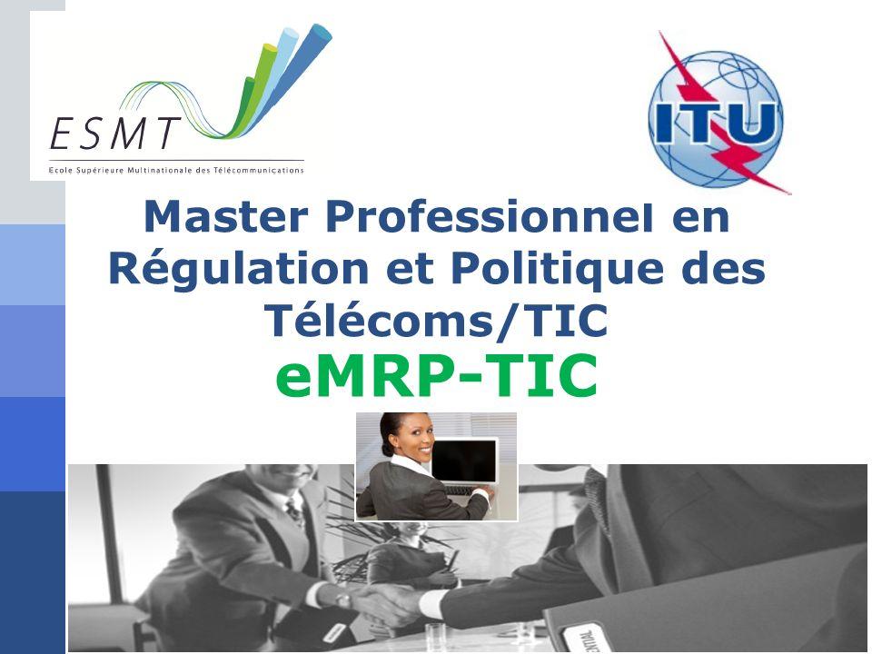 Master Professionnel en Régulation et Politique des Télécoms/TIC