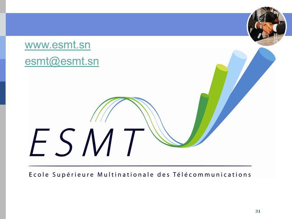 www.esmt.sn esmt@esmt.sn