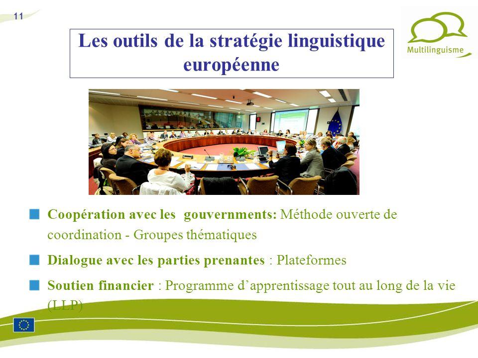 Les outils de la stratégie linguistique européenne