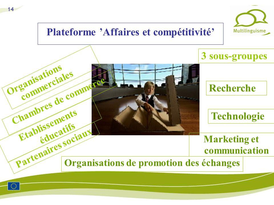Plateforme 'Affaires et compétitivité'