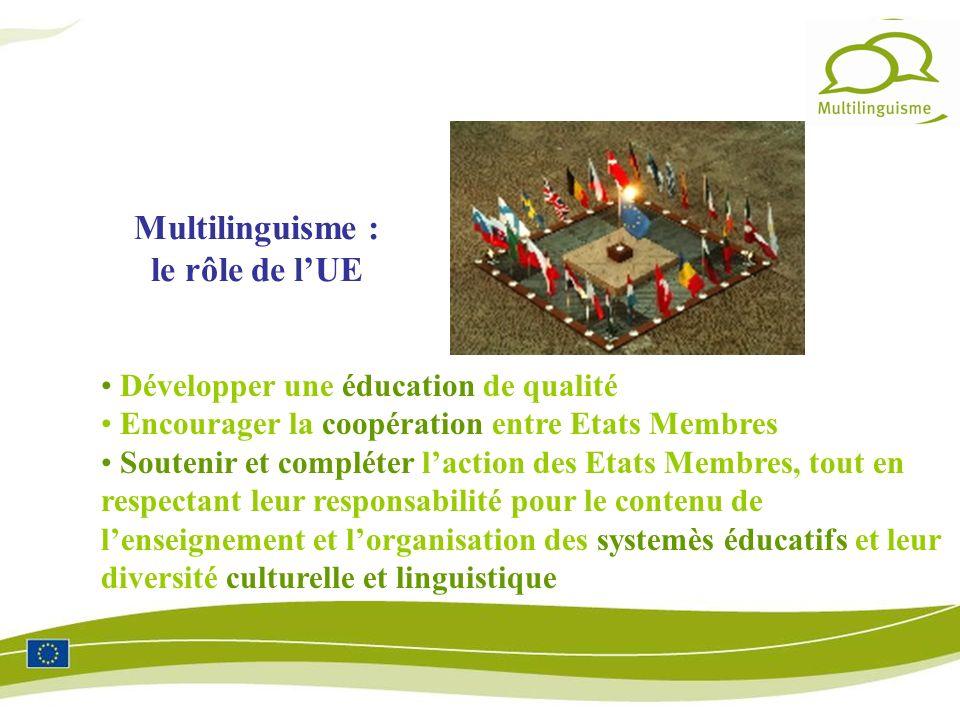 Multilinguisme : le rôle de l'UE