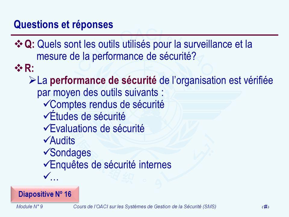 Comptes rendus de sécurité Études de sécurité Evaluations de sécurité