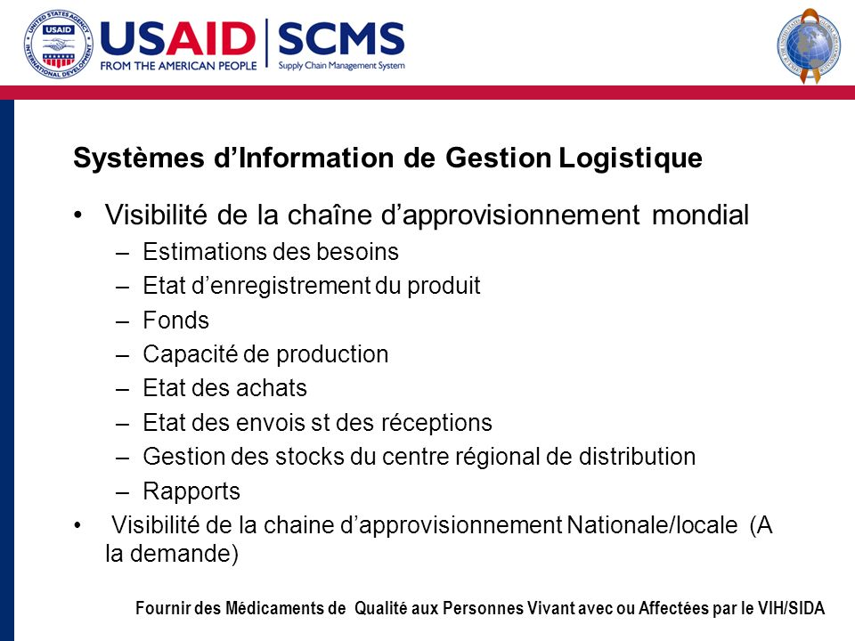 Systèmes d'Information de Gestion Logistique