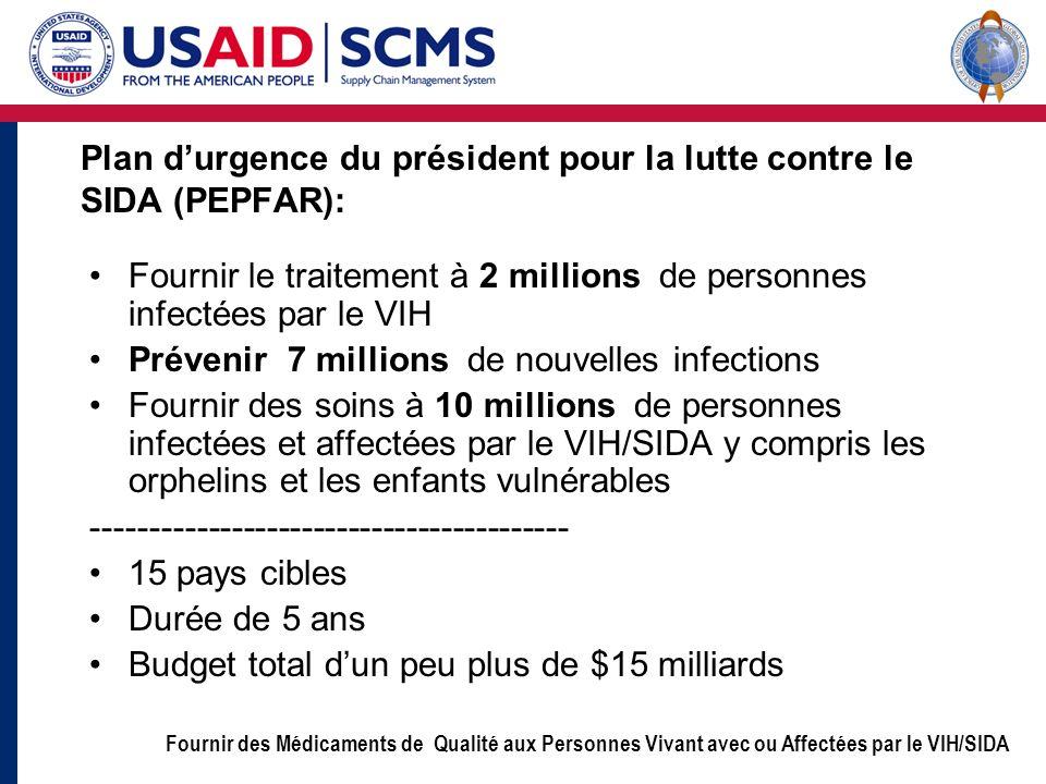 Plan d'urgence du président pour la lutte contre le SIDA (PEPFAR):