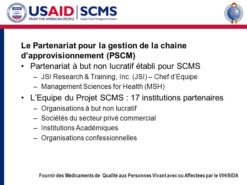 Le Partenariat pour la gestion de la chaine d'approvisionnement (PSCM)