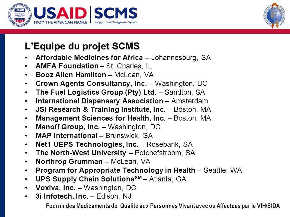 L'Equipe du projet SCMS