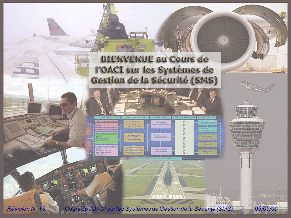 Cours de l'OACI sur les Systèmes de Gestion de la Sécurité (SMS)