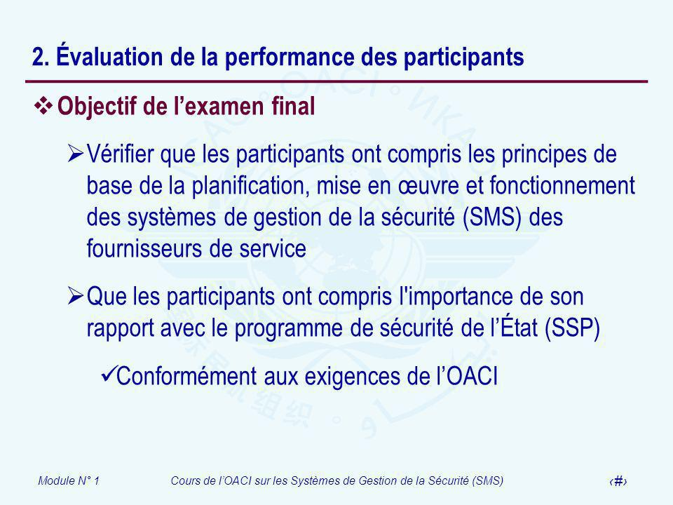 2. Évaluation de la performance des participants