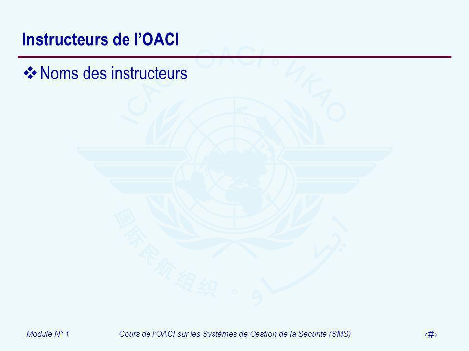 Instructeurs de l'OACI