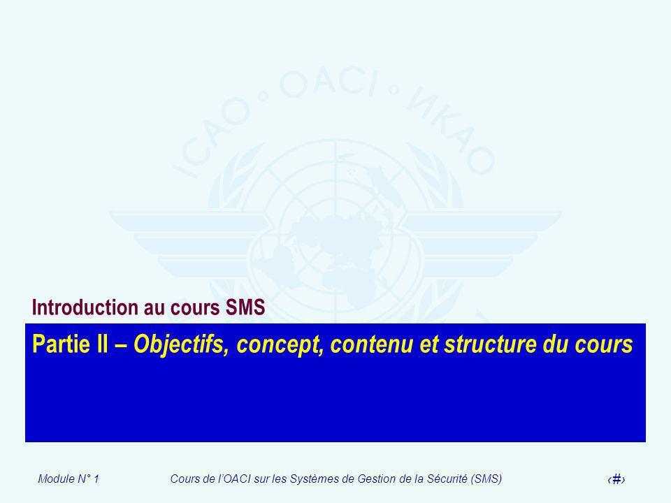 Partie II – Objectifs, concept, contenu et structure du cours